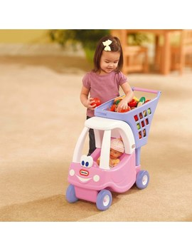 little-tikes-cozy-coupe-shopping-cart-pink by smyths