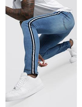 super-skinny-jeans-with-side-tape by boohoo