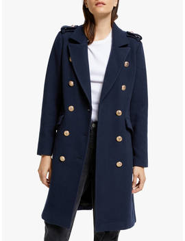 yas-goldian-wool-coat,-navy by yas