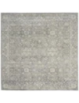 Safavieh Evoke Likoma Silver/Ivory Square Indoor Machine Made Vintage Area Rug (Common: 7 X 7; Actual: 6.6 Ft W X 6.6 Ft L) by Lowe's
