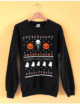 ugly-halloween-sweatshirt---sizes-s,-m,-l,-xl,-2x by etsy
