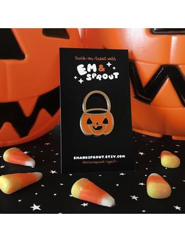 pumpkin-candy-pail-enamel-pin---halloween-exclusive by etsy