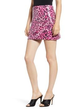 allover-sequin-leopard-print-miniskirt by endless-rose