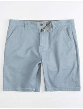 Charles And A Half Lincoln Stretch Crystal Blue Mens Shorts by Charles And A Half
