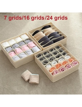 washable-underwear-storage-box-foldable-7-16-24-grids-bras-socks-drawer-organizer-multi-function-home-storage-organizer by wish