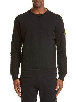 patch-crewneck-sweatshirt by stone-island