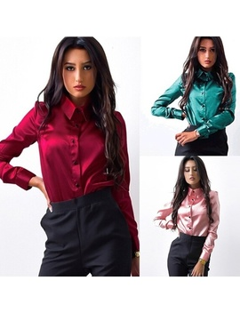 fashion-ladies-office-work-shirts-women-silk-satin-blouse-button-long-sleeve-lapel-elegant-female-satin-silk-blouses-shirt by wish