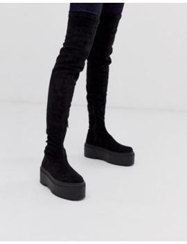 asos-design-–-katie-–-klobige-overknee-stiefel by asos