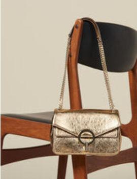 Full Gold Yza Bag, Small Model by Sandro Eshop
