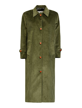 Maria Single Breasted Cotton Corduroy Coat by Giuliva Heritage Collection