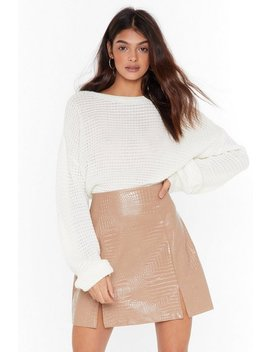 believe-it-or-croc-faux-leather-mini-skirt by nasty-gal