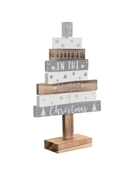 wooden-christmas-tree---silver by b&m
