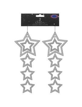Glitter Shooting Stars 2pk   Silver by B&M