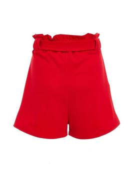 red-paper-bag-belted-shorts by quiz