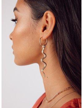 viper-hoop-earrings by princess-polly