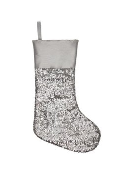 christmas-sequin-stocking---silver by b&m