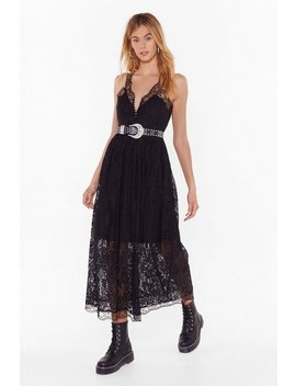 save-a-lace-for-me-plunging-midi-dress by nasty-gal