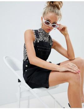 asos-design---vestito-di-jeans-stile-salopette-nero-slavato by asos-design