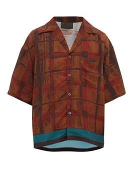 checked-and-striped-bowling-shirt by prada