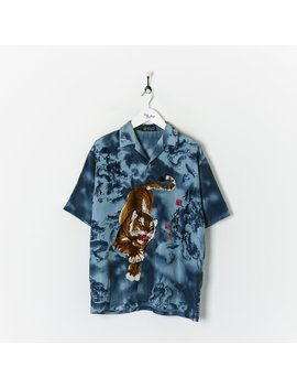 vintage-asian-tiger-shirt-grey-xl by true-vintage-clothing
