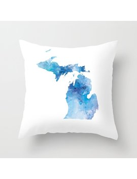 michigan-throw-pillow by society6