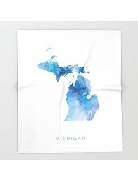 Michigan Throw Blanket by Society6