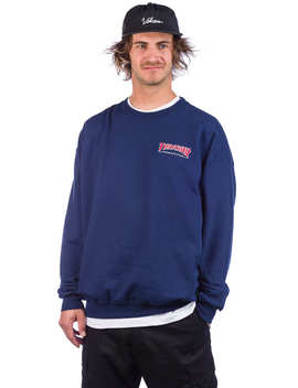outlined-embroidered-crewneck-sweat by thrasher