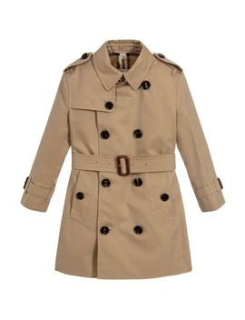 Beige Heritage Trench Coat by Burberry