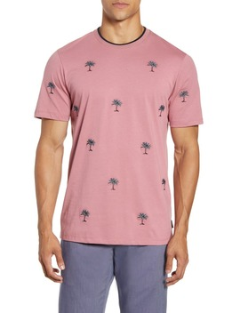 coconut-slim-fit-embroidered-palm-tree-t-shirt by ted-baker-london
