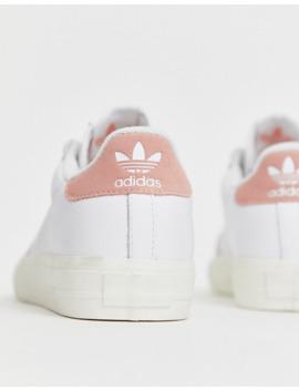 adidas-originals---continental-80---baskets-à-semelle-vulcanisée---blanc-et-rose by adidas