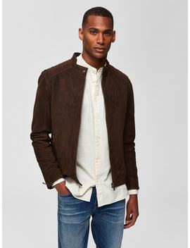 Suede   Leather Jacket Suede   Leather Jacket  Madarin Collar   Shirt  6163   Slim Fit Jeans  Suede   Derby Shoes by Selected