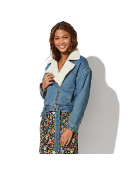 juniors-vylette-sherpa-lined-denim-moto-jacket by vylette
