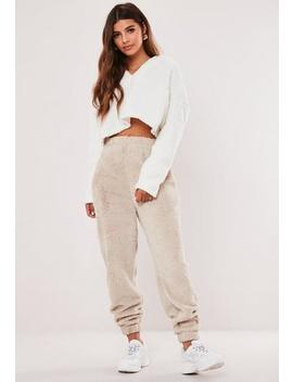 stone-borg-teddy-oversized-joggers by missguided