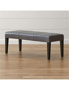Lowe Smoke Leather Backless Bench by Crate&Barrel