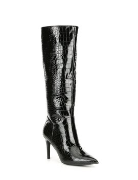 kinga-croco-embossed-stiletto-boots by steve-madden