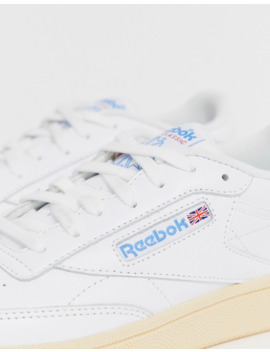 reebok---club-c-85---baskets---blanc-et-bleu by reebok