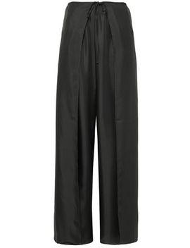 lulu-wrap-effect-silk-twill-wide-leg-pants by filippa-k