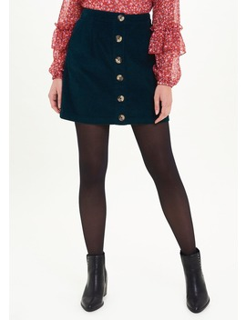 Button Through Cord Skirt by Matalan