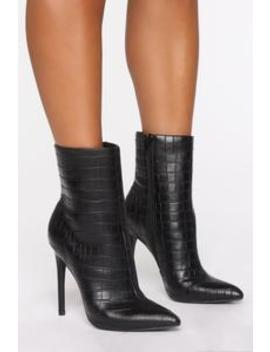 last-minute-booties---black-croc by fashion-nova