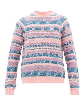 karlos-crew-neck-intarsia-knitted-sweater by acne-studios