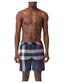 mens-guildes-signature-check-swim-trunks by burberry