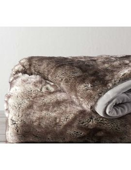 Faux Fur Ombre Tipped Throw by Pottery Barn