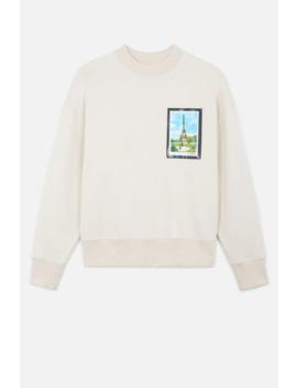 Sweatshirt With Postcard Print by Ami Paris