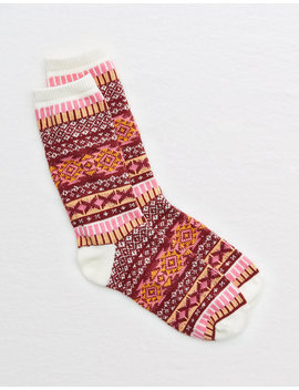 aerie-fairisle-crew-socks by american-eagle-outfitters