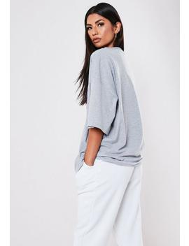 grey-western-graphic-oversized-t-shirt by missguided