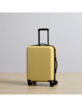 West Elm Rolling Luggage   Yellow by West Elm
