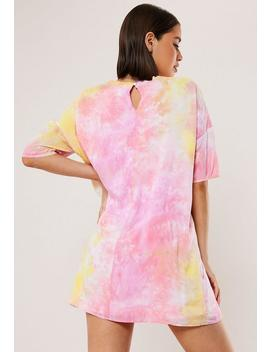 pink-tie-dye-t-shirt-dress by missguided