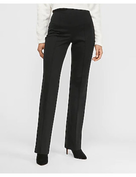 high-waisted-knit-trouser-pant by express