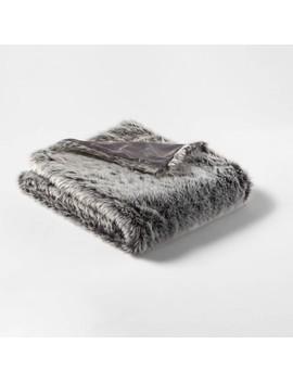 faux-fur-throw-neutral_gray---threshold by threshold