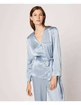 enfärgad-blå-skjorta by oysho